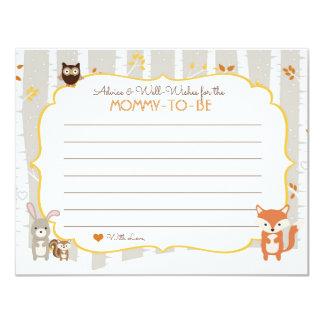 Carte de conseil de baby shower d'automne/hiver de carton d'invitation 10,79 cm x 13,97 cm