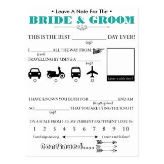 Carte de conseil d'invité de mariage