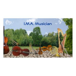 Carte de contact d'instruments d'orchestre carte de visite standard