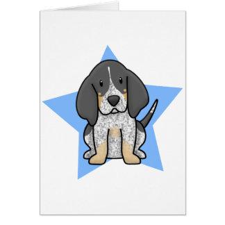 Carte de Coonhound de Bluetick d'étoile de Kawaii