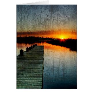 Carte de coucher du soleil de pilier