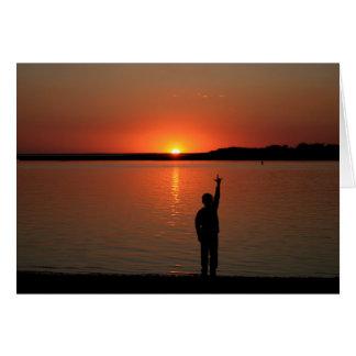 Carte de coucher du soleil de SLG