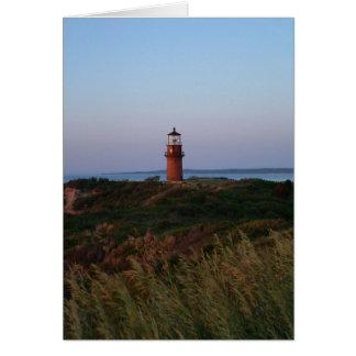 Carte de coucher du soleil et de phare d'Aquinnah