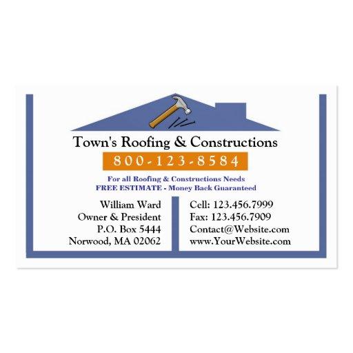 Carte de couvrir entreprise de construction cartes de for Carte visite construction