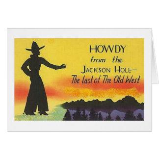 Carte de cowboy de Jackson Hole Wyoming
