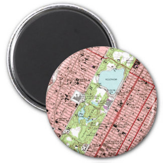 Carte de cru de New York City de Central Park Magnet Rond 8 Cm
