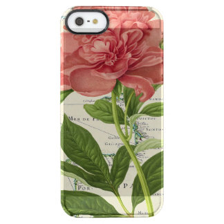 Carte de cru de pivoine coque iPhone clear SE/5/5s