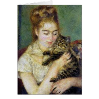 Carte de cru de Renoir de chat