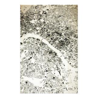 Carte de cru de rues et de bâtiments de Londres