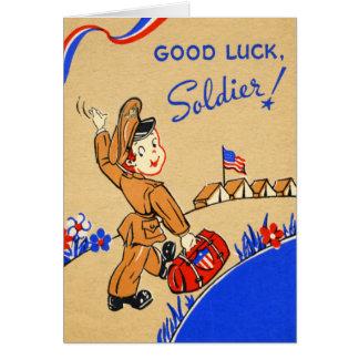 Carte de cru de soldat de bonne chance