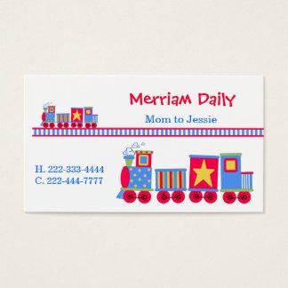 Carte de date de jeu de maman de train