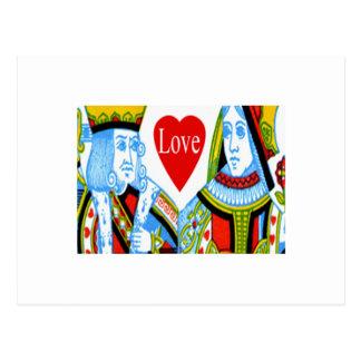 Carte de date du Roi Queen Hearts Save The