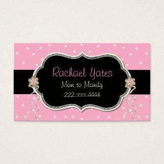 Carte de date rose, blanche, et noire de jeu de