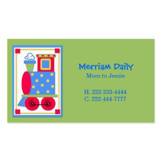 Carte de date verte de jeu de maman de moteur de carte de visite standard
