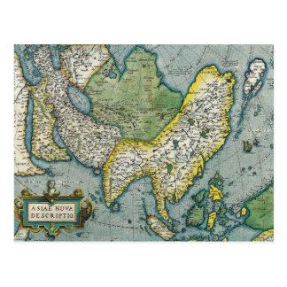 Carte de début du 16ème siècle de l'Asie