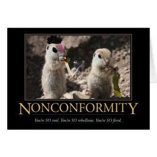Carte de Demotivational : Non-conformité