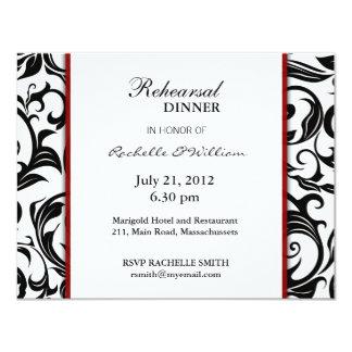 Carte de dîner de répétition de Bourgogne Invitations