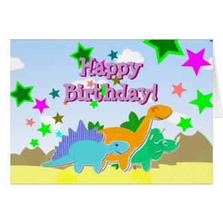 Carte de Dinos de joyeux anniversaire