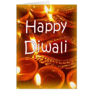 Carte de diyas de Diwali
