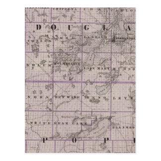 Carte de Douglas et de pape Counties, Minnesota Cartes Postales