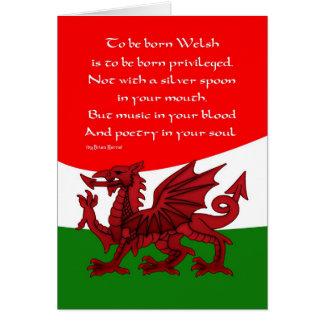 Carte de dragon de Gallois - poème par Brian