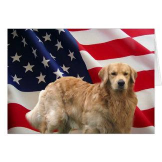 Carte de drapeau américain d'Eddie de golden