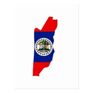 Carte de drapeau de Belize
