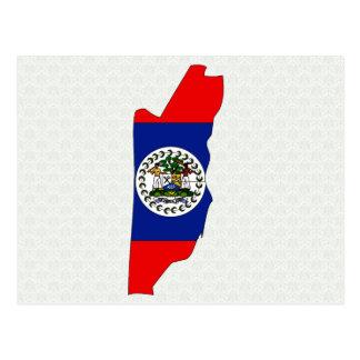 Carte de drapeau de Belize normale