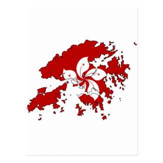 Carte de drapeau de Hong Kong