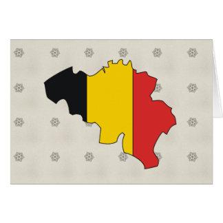 Carte de drapeau de la Belgique normale