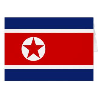 Carte de drapeau de la Corée du Nord