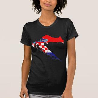 Carte de drapeau de la Croatie T-shirt