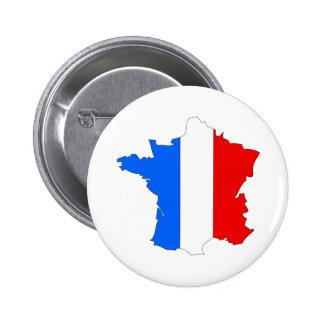 Carte de drapeau de la France normale Badges Avec Agrafe