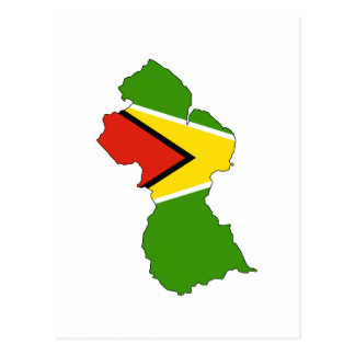 Carte de drapeau de la Guyane