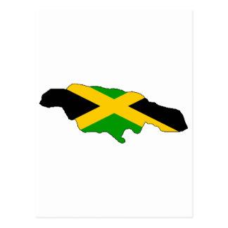 Carte de drapeau de la Jamaïque
