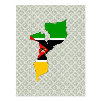 Carte de drapeau de la Mozambique normale