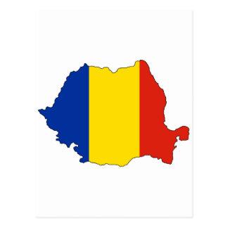 Carte de drapeau de la Roumanie