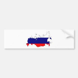 Carte de drapeau de la Russie Autocollant De Voiture