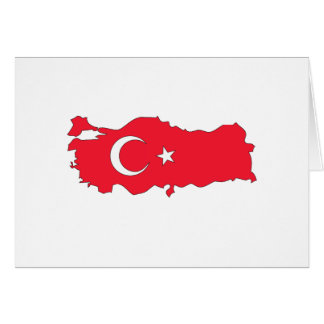 Carte de drapeau de la Turquie