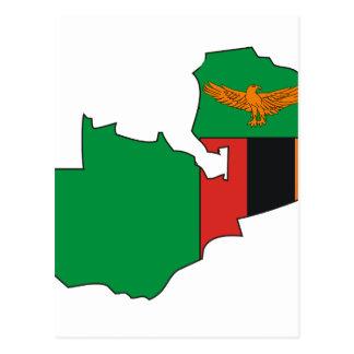 Carte de drapeau de la Zambie