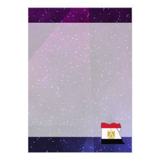 carte de drapeau de l'Egypte sur l'arrière - plan Carton D'invitation 12,7 Cm X 17,78 Cm