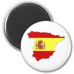 Carte de drapeau de l'Espagne normale Aimant