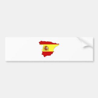 Carte de drapeau de l'Espagne normale Autocollants Pour Voiture