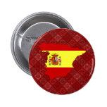 Carte de drapeau de l'Espagne normale Badge Avec Épingle