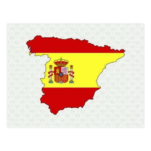 Carte de drapeau de l'Espagne normale Carte Postale