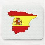 Carte de drapeau de l'Espagne normale Tapis De Souris