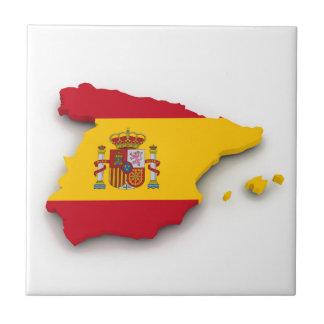 Carte de drapeau de l'Espagne Petit Carreau Carré