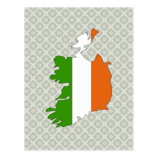 Carte de drapeau de l'Irlande normale