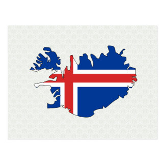 Carte de drapeau de l'Islande normale