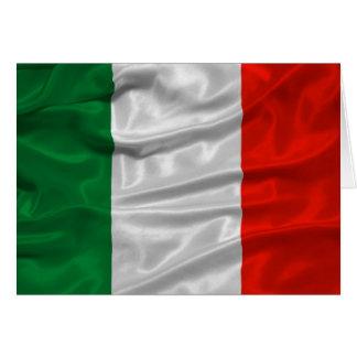 Carte de drapeau de l'Italie